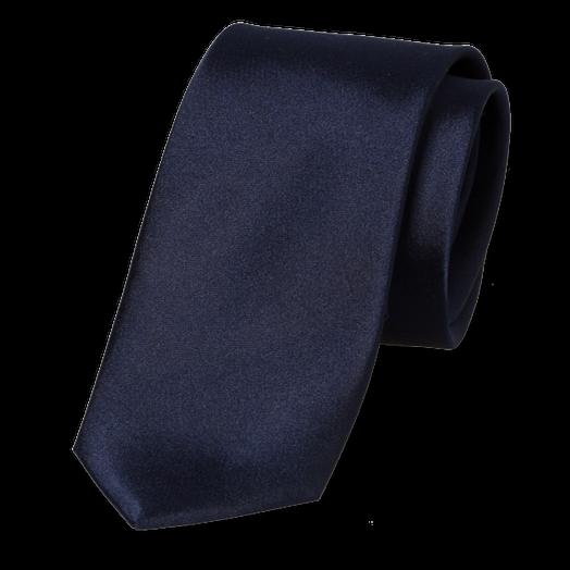 schmale krawatte navy satin g nstig online kaufen. Black Bedroom Furniture Sets. Home Design Ideas
