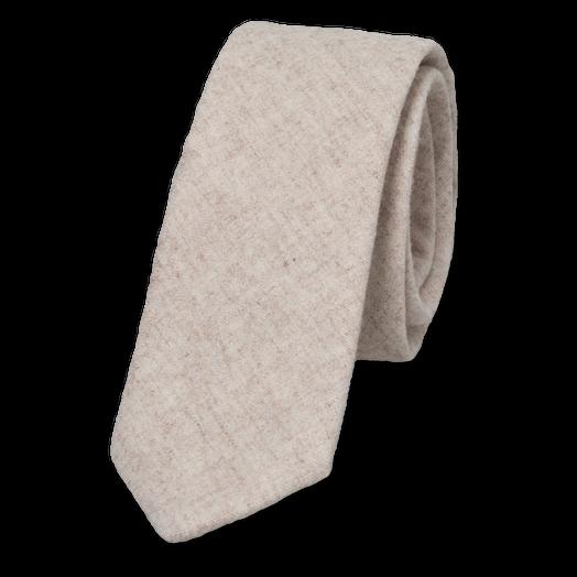 beige krawatte aus wolle g nstig online kaufen. Black Bedroom Furniture Sets. Home Design Ideas