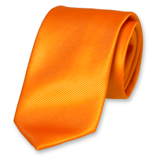 Krawatte Orange - Polyester (1)