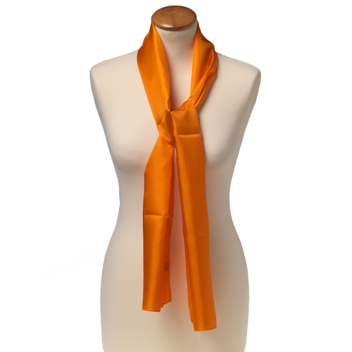 Schal Orange - Seide - 25x160 cm (1)