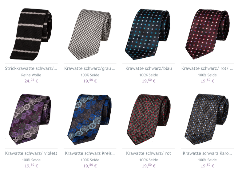 eine krawatte zu einem schwarzen anzug aussuchen das ist. Black Bedroom Furniture Sets. Home Design Ideas