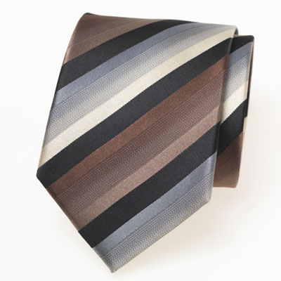gestreifte krawatte schwarz braun grau. Black Bedroom Furniture Sets. Home Design Ideas