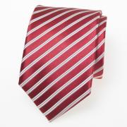 Krawatte rot mit weißen Streifen