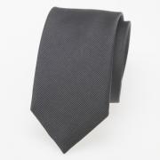 schmale Krawatte anthrazit / dunkelgrau