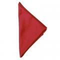 rotes Einstecktuch - Satin Seide