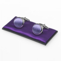 Manschettenknöpfe lila